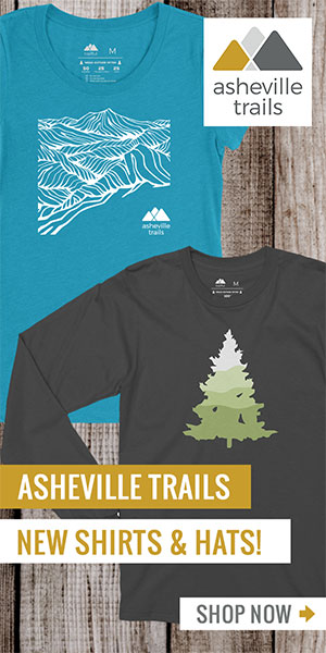 Asheville Trails Shop: Mountain Logo Shirts and Hats, Women's Shirts and Stickers