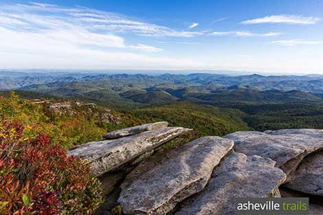 Asheville Trail Finder: find a great hiking trail by distance, difficulty or feature