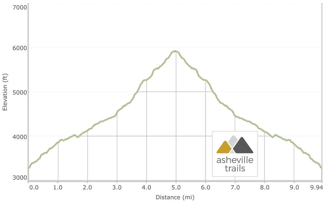 Cold Mountain on the Art Loeb Trail: Elevation Profile
