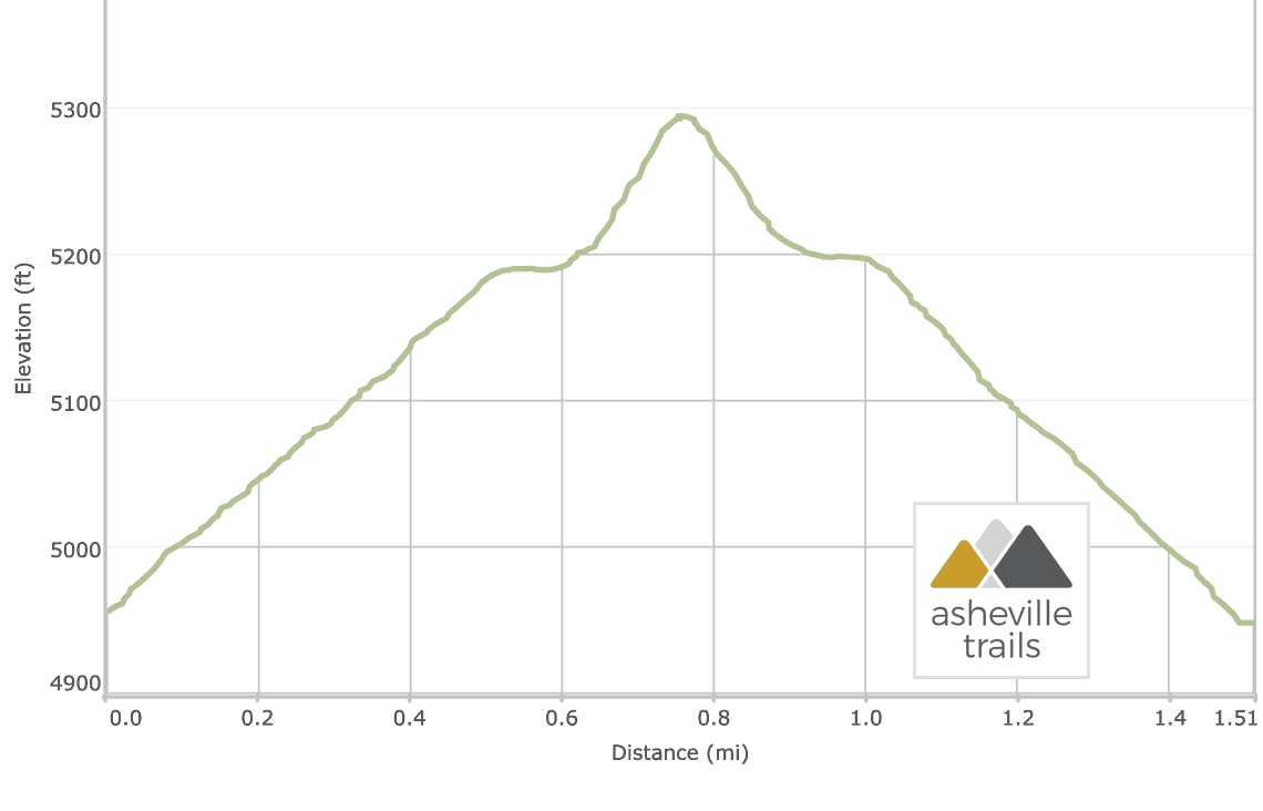 Fryingpan Mountain Tower Trail: Elevation Profile