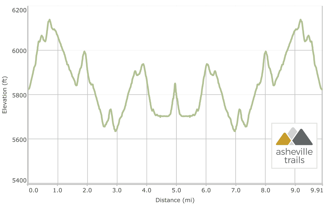 Shining Rock Mountain on the Art Loeb Trail: Elevation Profile
