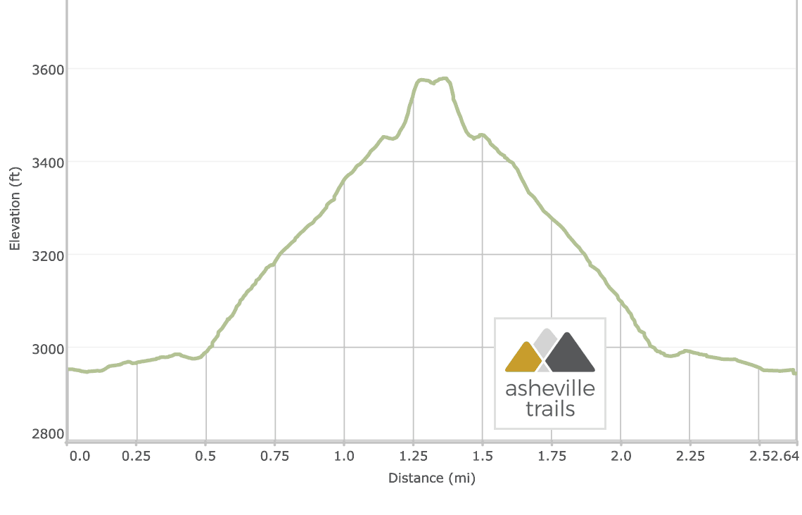 Stone Mountain Trail at DuPont State Forest: Elevation Profile