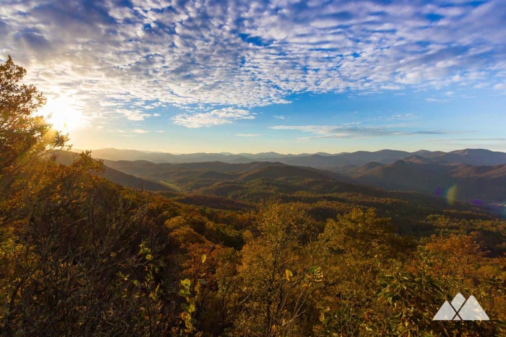 Hike our top 10 favorite fall leaf color trails in Georgia to stunning summit views and waterfalls framed in autumn's golden hues