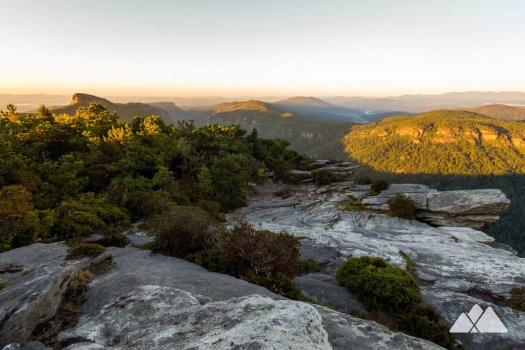 Hike the Hawksbill Mountain Trail to stunning summit views from this angular, rocky mountaintop on Linville Gorge's east rim