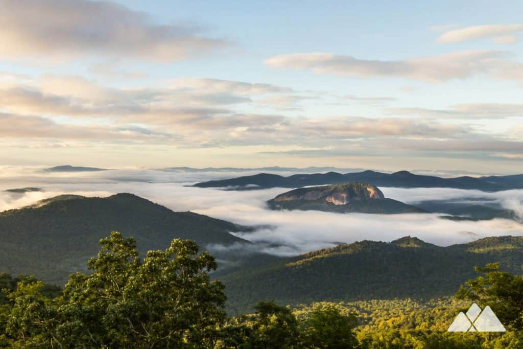 Top hikes in Western NC: climb to beautiful views from the domed summit of Looking Glass Rock