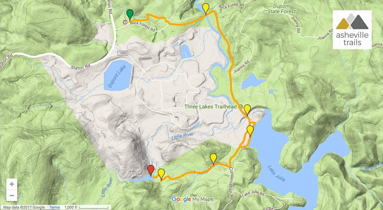 Bridal Veil Falls at DuPont State Forest - Asheville Trails on