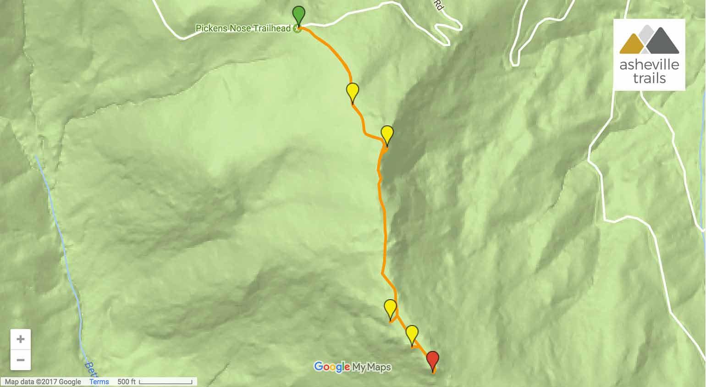 Pickens Nose Trail - Asheville Trails