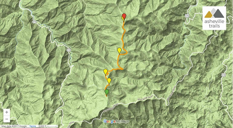 Asheville Elevation Map.Shining Rock Mountain On The Art Loeb Trail Asheville Trails