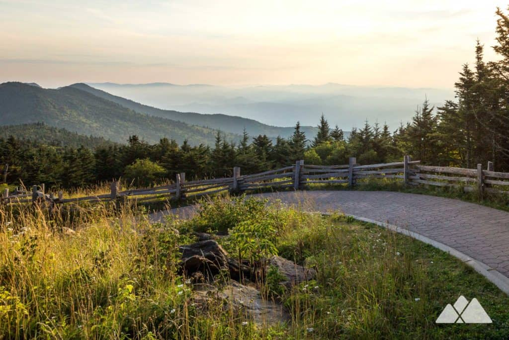 Hike to Mt Mitchell's stunning summit views, and hike the connecting Balsam Nature Trail through gorgeous, lush, high-elevation forest. It's a view-packed one mile hike off the Blue Ridge Parkway at Mount Mitchell State Park.