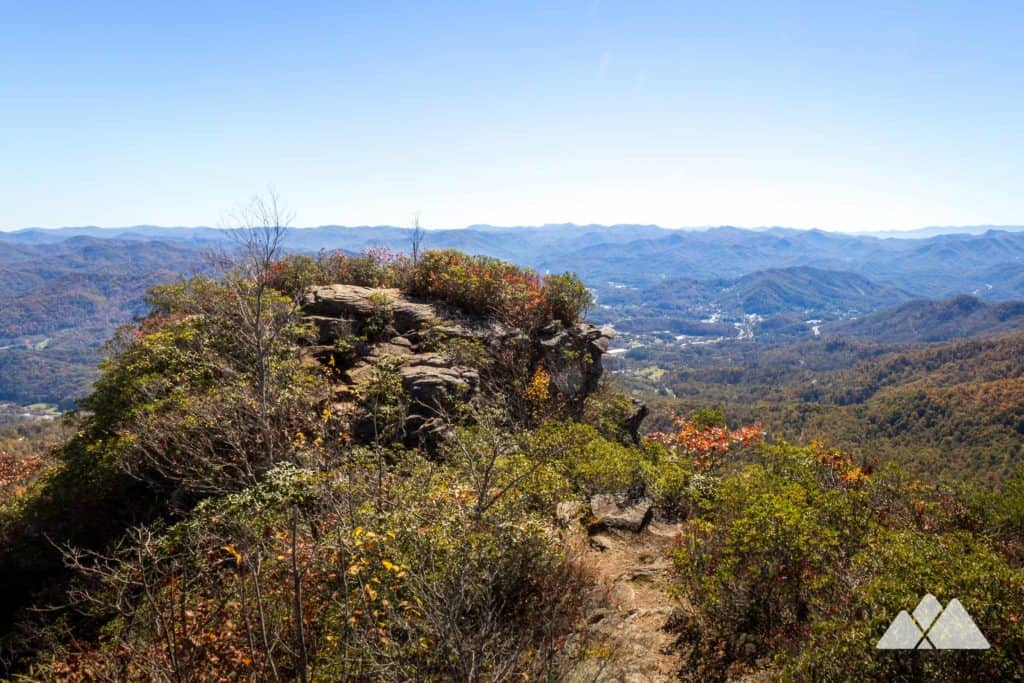 Hike Pinnacle Park in Sylva, NC to stunning autumn views from the knobby summit of The Pinnacle
