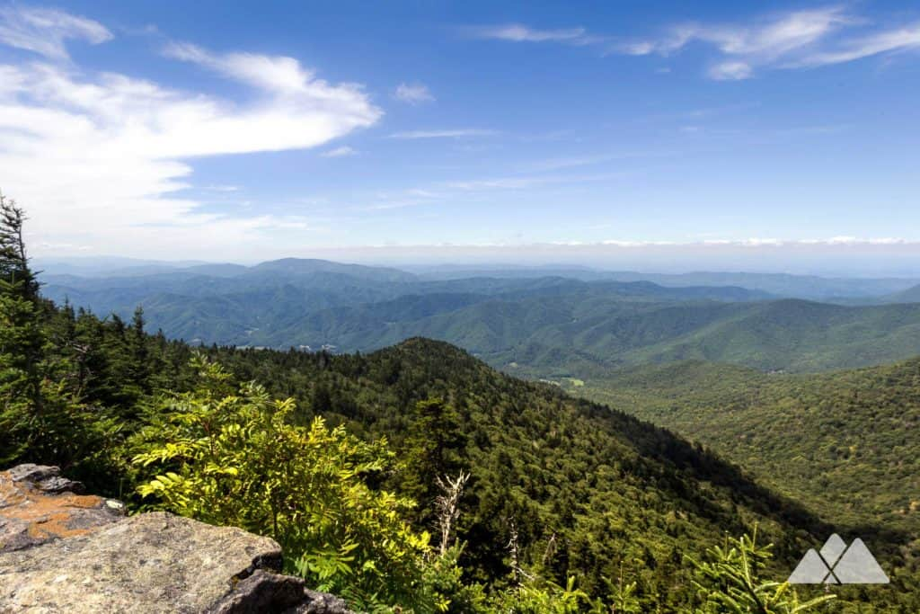 Hike the Appalachian Trail from Carvers Gap, climbing through a lush forest to the Roan High Knob Shelter, the highest-elevation shelter on the AT