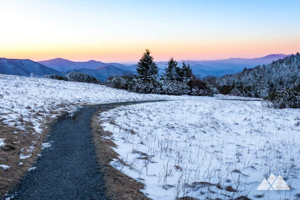 Hike the Appalachian Trail at Roan Mountain to beautiful winter views in western NC