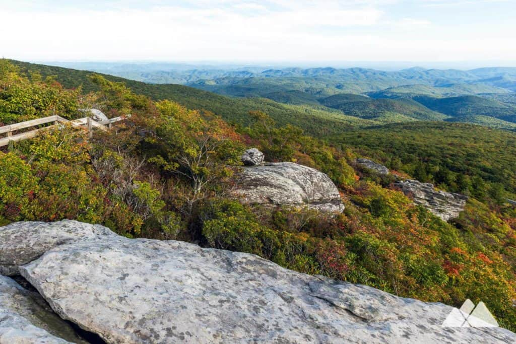 Hike Rough Ridge at Grandfather Mountain in fall to catch gorgeous, colorful autumn leaf color