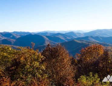 Siler Bald from Wayah Gap on the Appalachian Trail