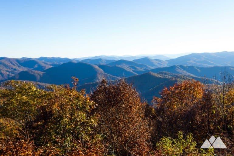 Siler Bald from Wayah Gap on the Appalachian Trail