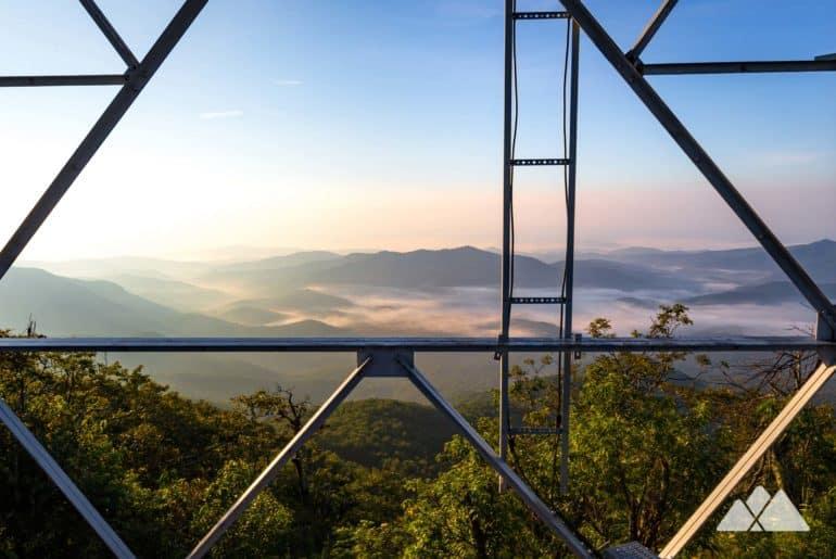 Fryingpan Mountain Tower on the Blue Ridge Parkway