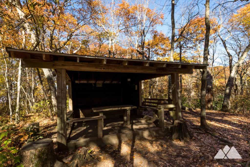 Standing Indian Shelter on the Appalachian Trail
