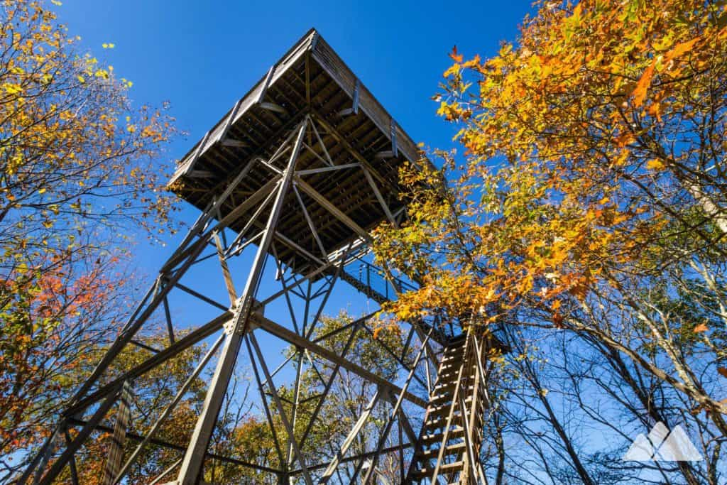 Wesser Bald Fire Tower on the Appalachian Trail