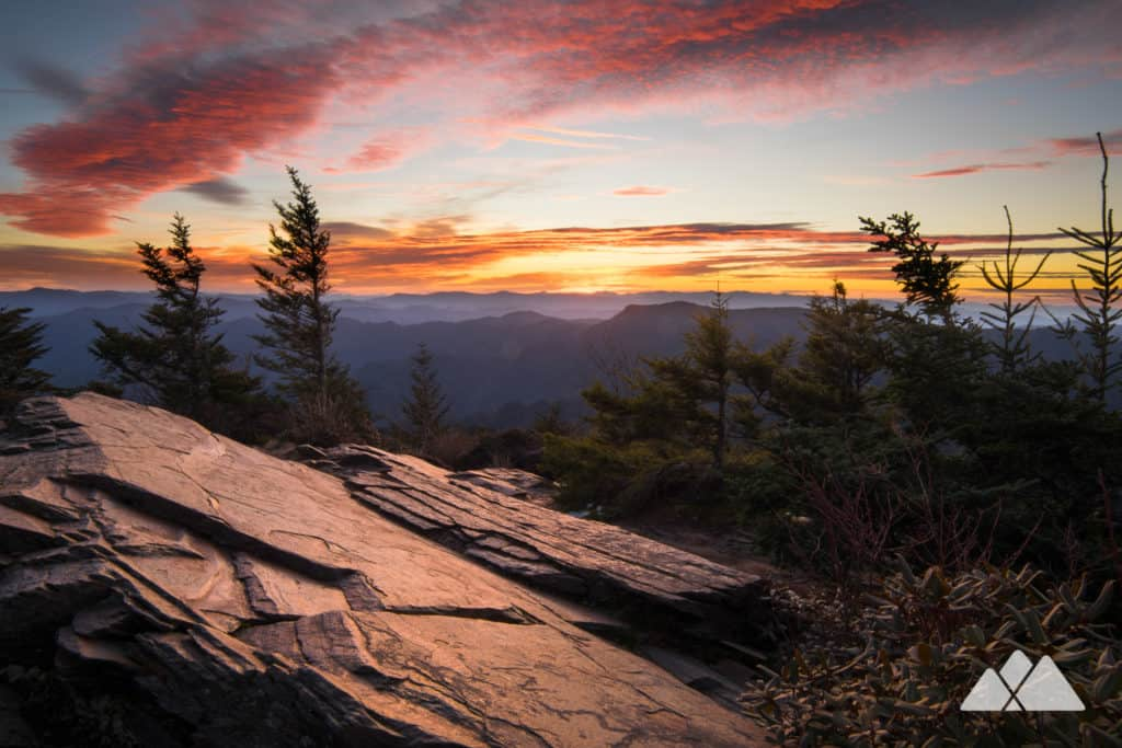 Mt LeConte: hike to stunning sunrise views from Myrtle Point in the Great Smoky Mountains National Park