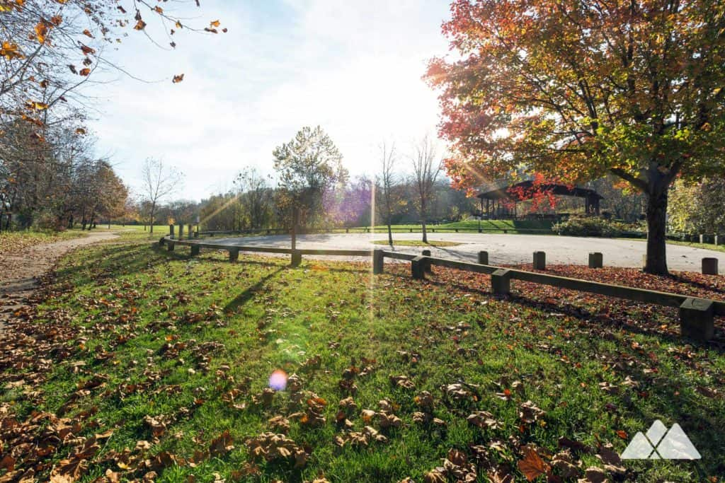 Carrier Park: run a paved greenway trail along the French Broad River in West Asheville, NC