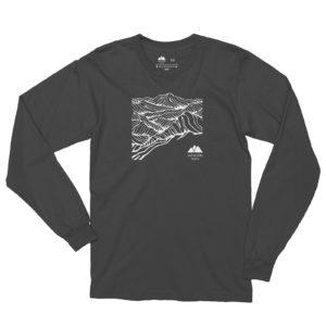 Asheville Trails Mountain Long Sleeve Shirt, Slate