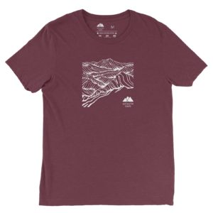 Asheville Trails Mountain Shirt, Maroon