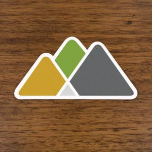 Asheville Trails Mountain Logo Sticker