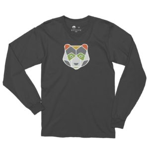 Asheville Trails Bear Long Sleeve Shirt, Slate