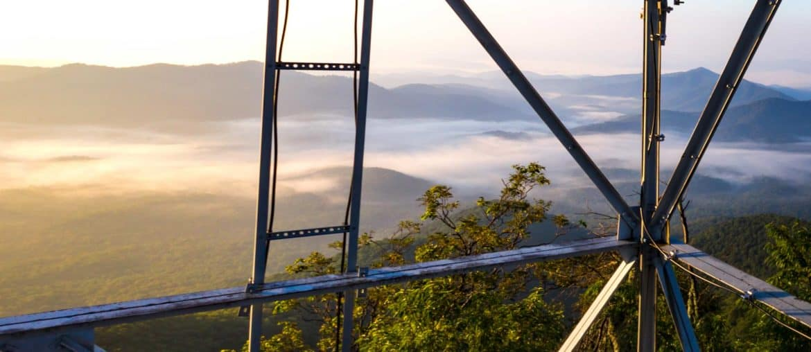 Fire lookout towers near Asheville, NC