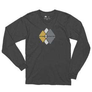 Asheville Trails Mountain Reflections Long Sleeve Shirt, Slate