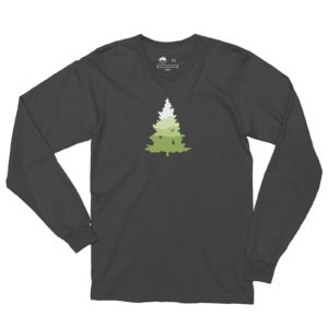 Asheville Trails Southern Pine Long Sleeve Shirt, Slate