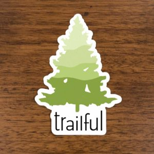 Trailful Southern Pine Sticker - Asheville Trails