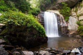 Waterfalls near Asheville under two miles