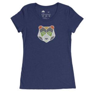 Asheville Trails Women's Bear Shirt, Navy