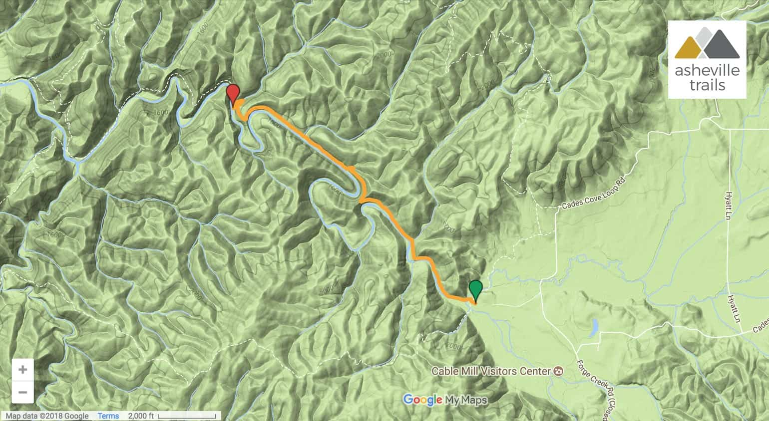 Abrams Falls Trail Map