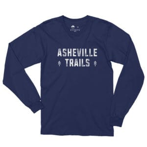 Asheville Trails Between the Pines Long Sleeve Shirt, Navy