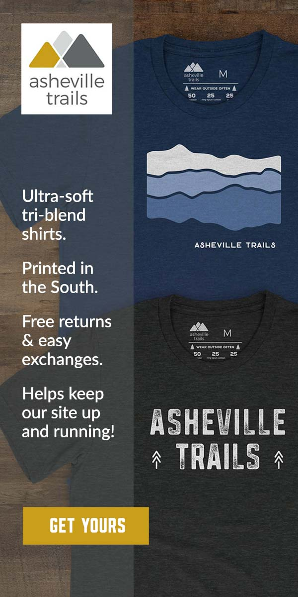 Asheville Trails shirt shop: wear your trail love
