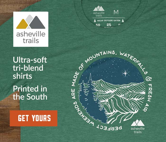 Asheville Trails shirts: locally made & inspired by great North Carolina adventures