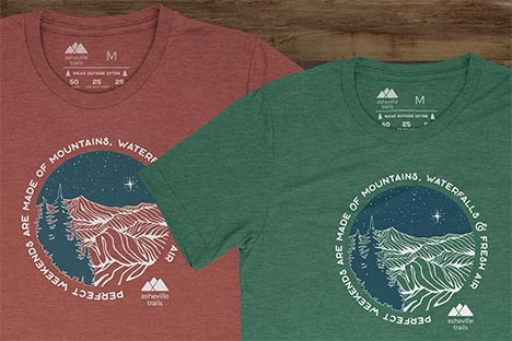 Asheville Trails Shirts