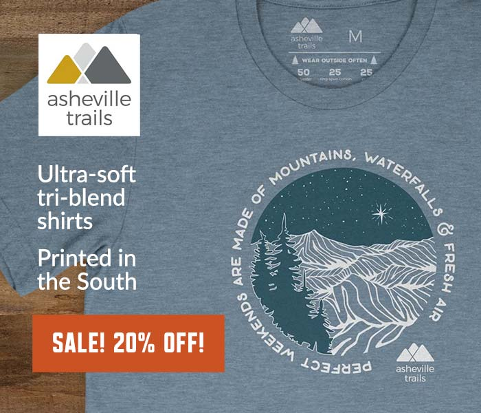 Asheville Trails Perfect Weekends Shirts: locally made & inspired by great North Carolina adventures