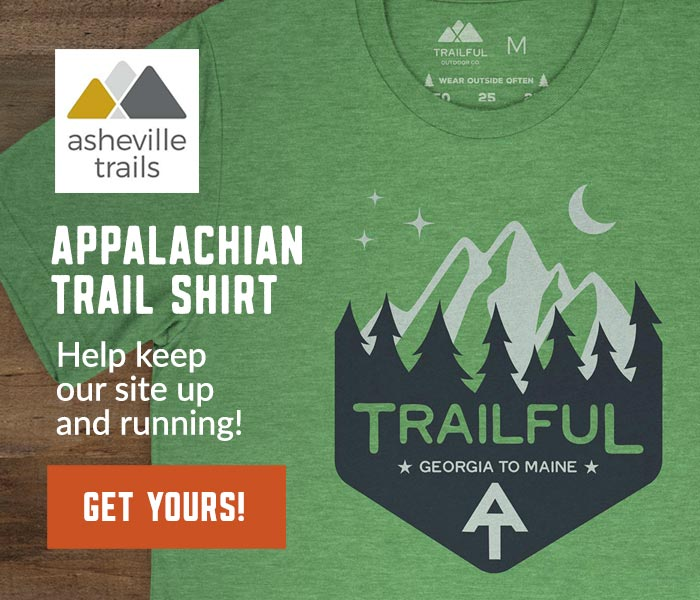 Asheville Trails Appalachian Trail Shirt - help support our site!